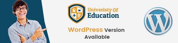 Education WordPress Version Available