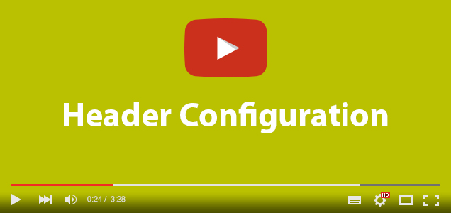 Header Configuration