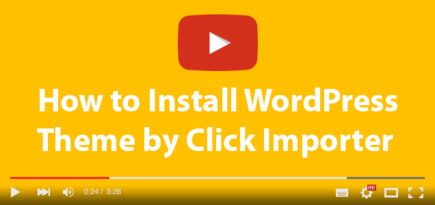 theme installation one click importer